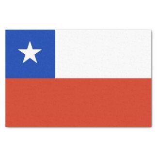 Papel seda patriótico con la bandera de Chile