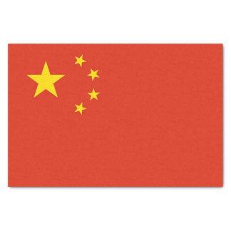 Papel seda patriótico con la bandera de China