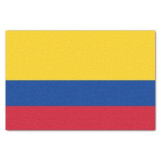 Papel seda patriótico con la bandera de Colombia