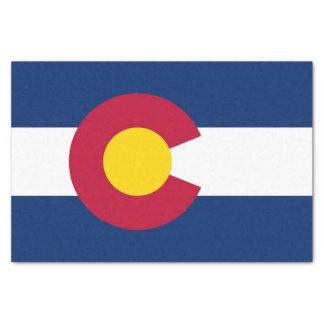 Papel seda patriótico con la bandera de Colorado