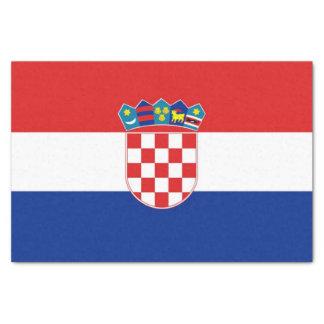 Papel seda patriótico con la bandera de Croacia