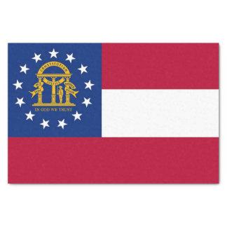 Papel seda patriótico con la bandera de Georgia