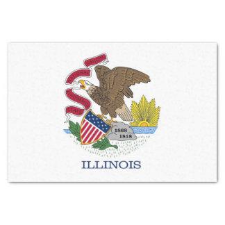 Papel seda patriótico con la bandera de Illinois