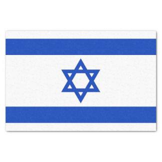 Papel seda patriótico con la bandera de Israel