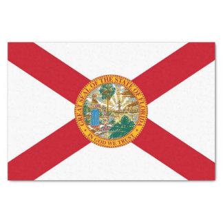Papel seda patriótico con la bandera de la Florida