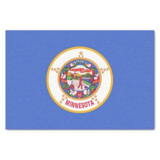 Papel seda patriótico con la bandera de Minnesota,