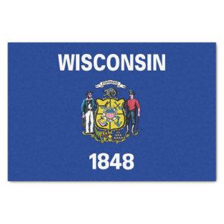 Papel seda patriótico con la bandera de Wisconsin,