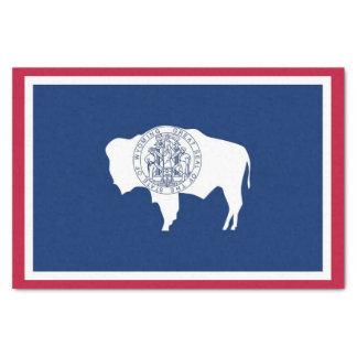 Papel seda patriótico con la bandera de Wyoming,