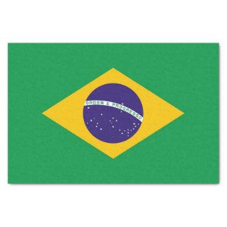 Papel seda patriótico con la bandera del Brasil