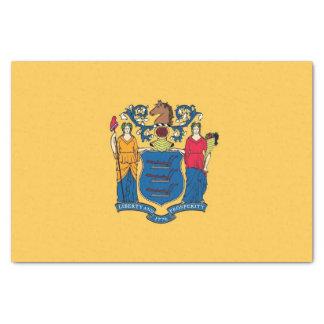 Papel seda patriótico con la bandera New Jersey