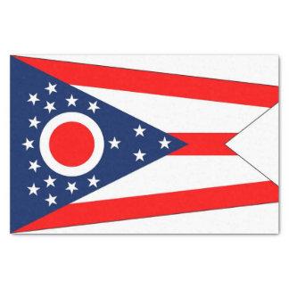 Papel seda patriótico con la bandera Ohio