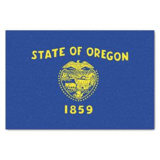Papel seda patriótico con la bandera Oregon, los