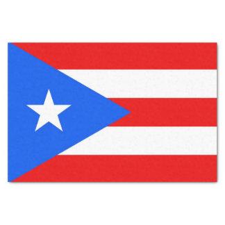 Papel seda patriótico con la bandera Puerto Rico,
