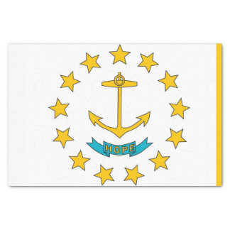 Papel seda patriótico con la bandera Rhode Island
