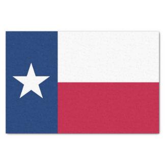 Papel seda patriótico con la bandera Tejas, los