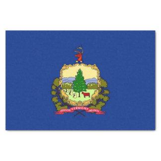 Papel seda patriótico con la bandera Vermont, los