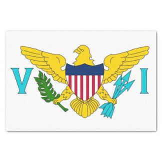 Papel seda patriótico con las Islas Vírgenes de la