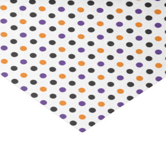 Papel seda púrpura de Halloween del naranja y del