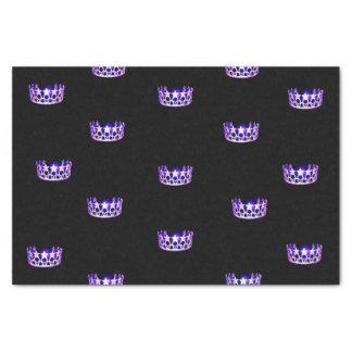 Papel seda púrpura de la corona de la Srta. los