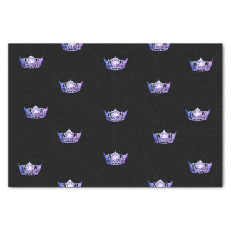 Papel seda púrpura de la corona de Srta. América