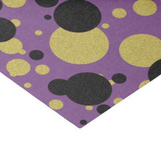 Papel seda púrpura del lunar de la chispa del oro