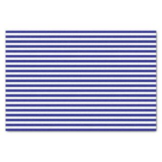 Papel seda rayado azul y blanco