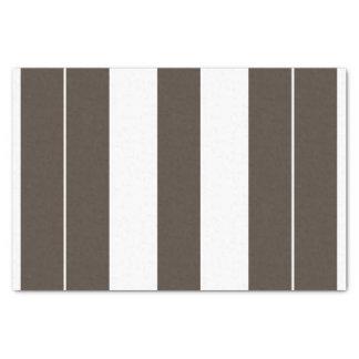 Papel seda rayado de color topo y blanco 10lb