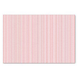 Papel seda rojo y blanco de la tela a rayas