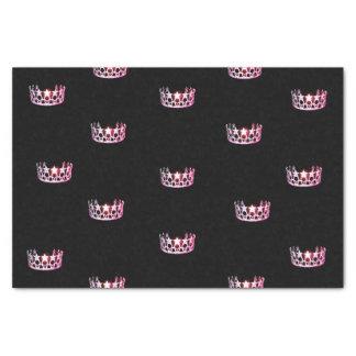 Papel seda rosado de la corona de la Srta. los