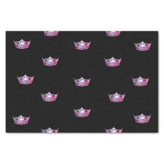 Papel seda rosado de la corona de Srta. América