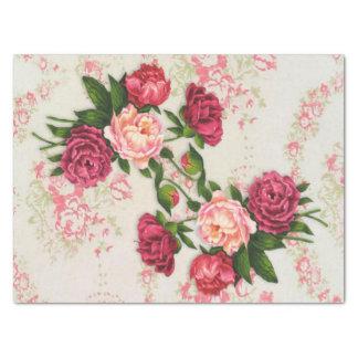 Papel seda rosado de los rosas