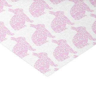 Papel seda rosado del papel de regalo del conejito