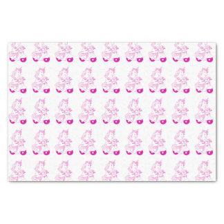 Papel seda rosado del unicornio