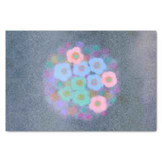 Papel seda texturizado floral abstracto de la