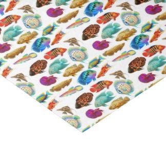Papel seda tropical de los pescados del acuario