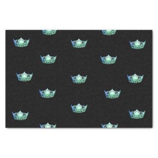 Papel seda verde de la corona de la aguamarina de