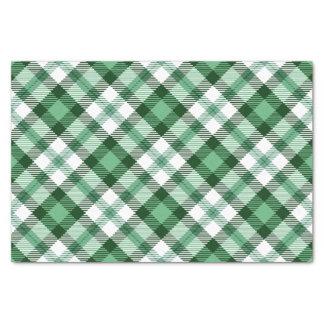Papel seda verde festivo del día de fiesta de la