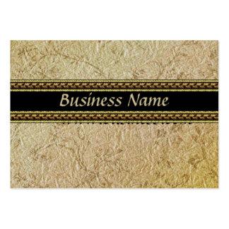 Papel viejo grabado en relieve negocio de la tarje tarjetas de visita grandes