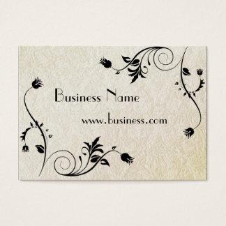 Papel viejo grabado en relieve negocio de la tarjeta de negocios