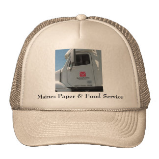 Papel y alimentación de Maines Gorro De Camionero
