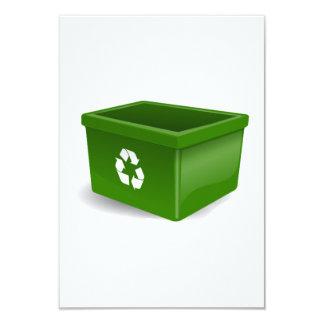 Papelera de reciclaje comunicados personalizados