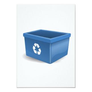 Papelera de reciclaje invitación 8,9 x 12,7 cm