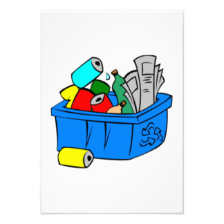 Papelera de reciclaje invitación