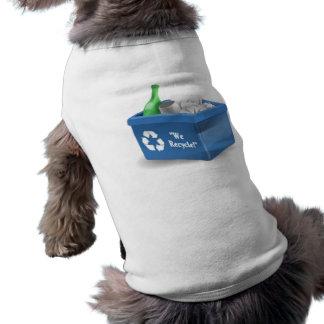 Papelera de reciclaje camisa de perro