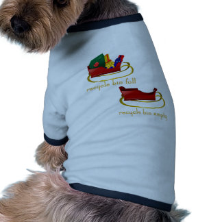 Papeleras de reciclaje del trineo del navidad camisetas mascota