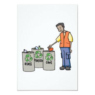 Papeleras de reciclaje invitación 8,9 x 12,7 cm