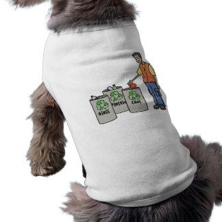 Papeleras de reciclaje camisas de mascota
