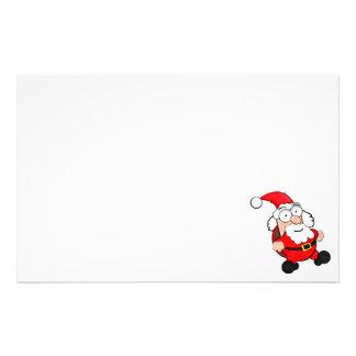 """Papelería 5,5"""" x 8,5"""" efectos de escritorio lindos de Santa"""