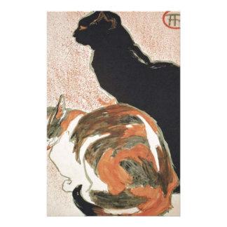 Papelería Acuarela - 2 gatos - Théophile Alejandro Steinlen