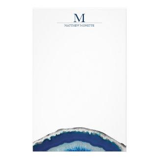 Papelería Ágata azul